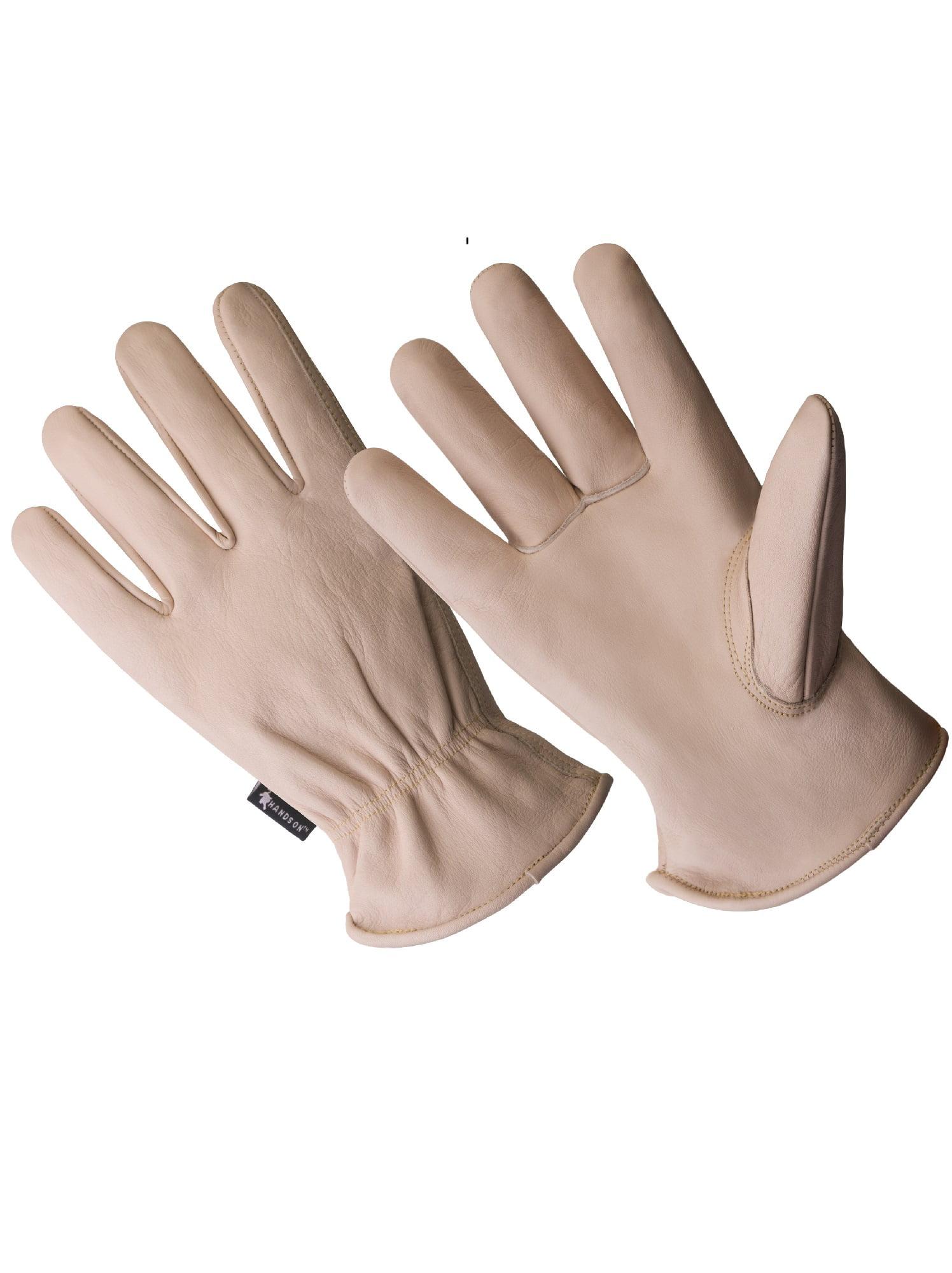LD5002-L, Full Leather, Beige Cow Grain Driver Glove