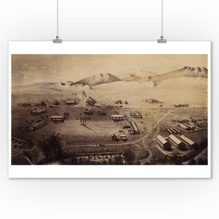 Fort Collins, CO Panoramic Map - 1865 (9x12 Art Print, Wall Decor Travel Poster)](Party City Fort Collins Co)