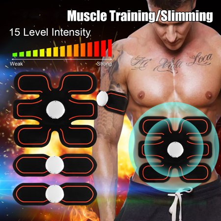 Grtsunsea Electric Arm/Leg/Abdominal Muscle Trainer Upgrade ABS Stimulator Smart Body Building Fitness Home (Best Home Gym For Building Muscle)