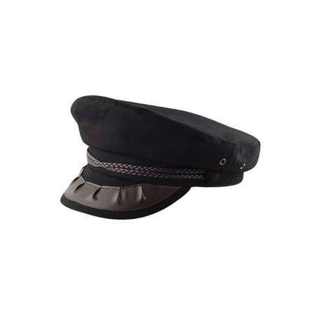 CAPTAIN OF THE SHIP/PLANE HAT, BLACK Medium - Captains Hats