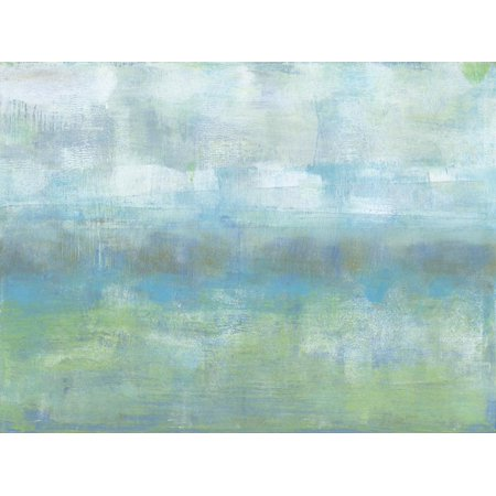 Soft Heather I Blue Abstract Painting Print Wall Art By Jennifer Goldberger (Goldberger Abstract Print)