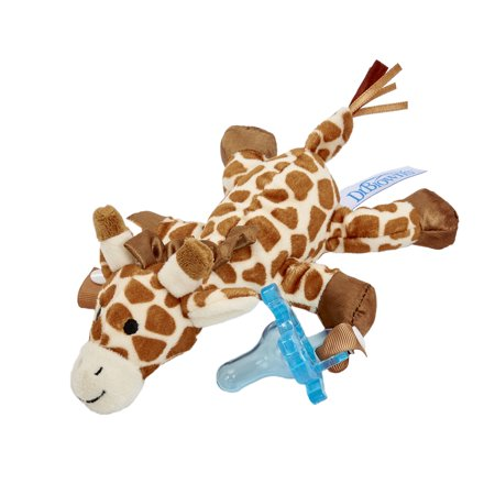 Dr. Brown's Lovey Pacifier and Teether Holder, 0m+, Giraffe with Blue - Binky Bunny