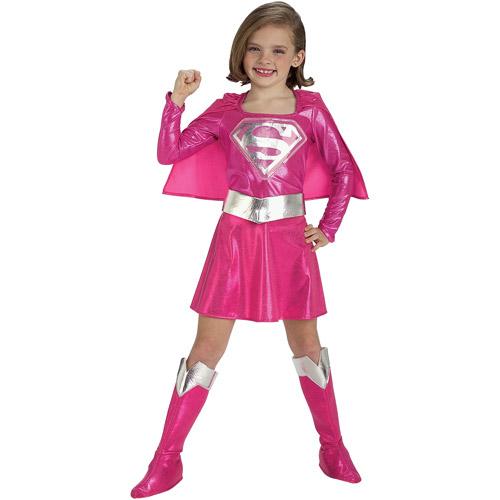 Supergirl Pink Toddler Halloween Costume