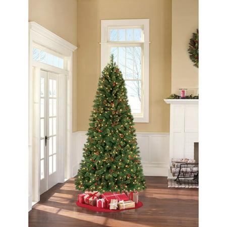 Holiday Time Pre-Lit 7.5' Barrington Pine Artificial Christmas Tree, Clear Lights - Walmart.com