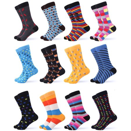 Gallery Seven Mens Dress Socks - Funky Colorful Socks for Men - 12 Pack - Swish Collection - 12 (Mens Collection)