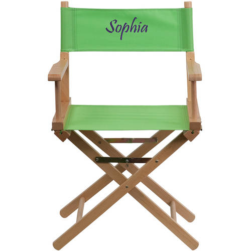 Flash Furniture Personalized Embroidered Standard Height Directors Chair, Green