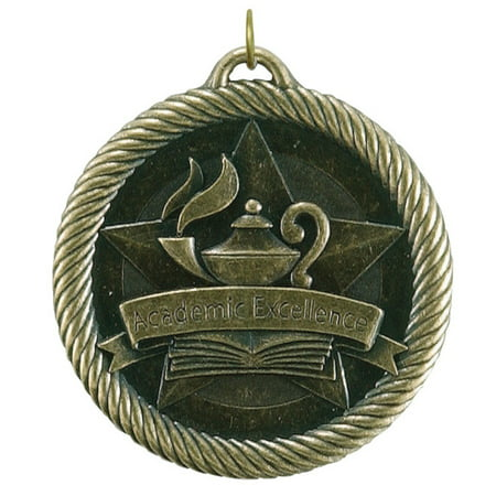 Hammond & Stephens Multi-Level Dovetail/Academic Excellence Value Medal, 2 Inches, Solid Die Cast, Gold ()