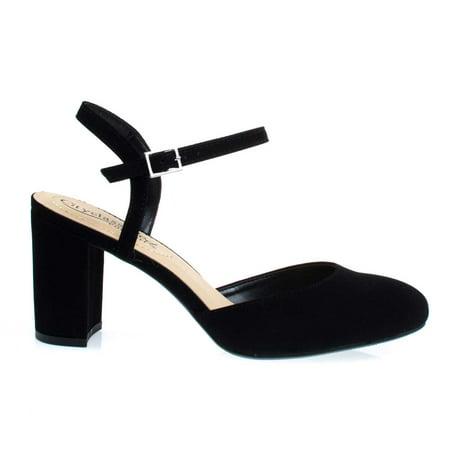 Cooney by City Classified, Chunky Block Heel Open Back Dress Pump w Comfortable Foam Padded Sole (Wind City Sole)