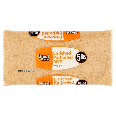 (2 Pack) Great Value Enriched Parboiled Rice, 5 lb