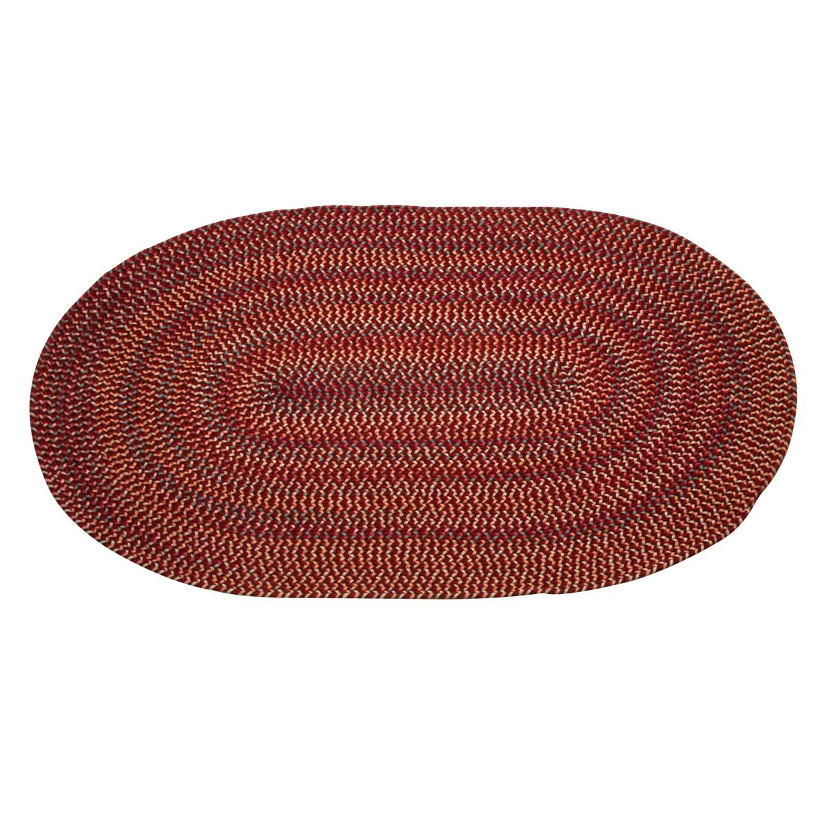 Oval Area Rug 6' x 4' Red Nylon | Renovator's Supply