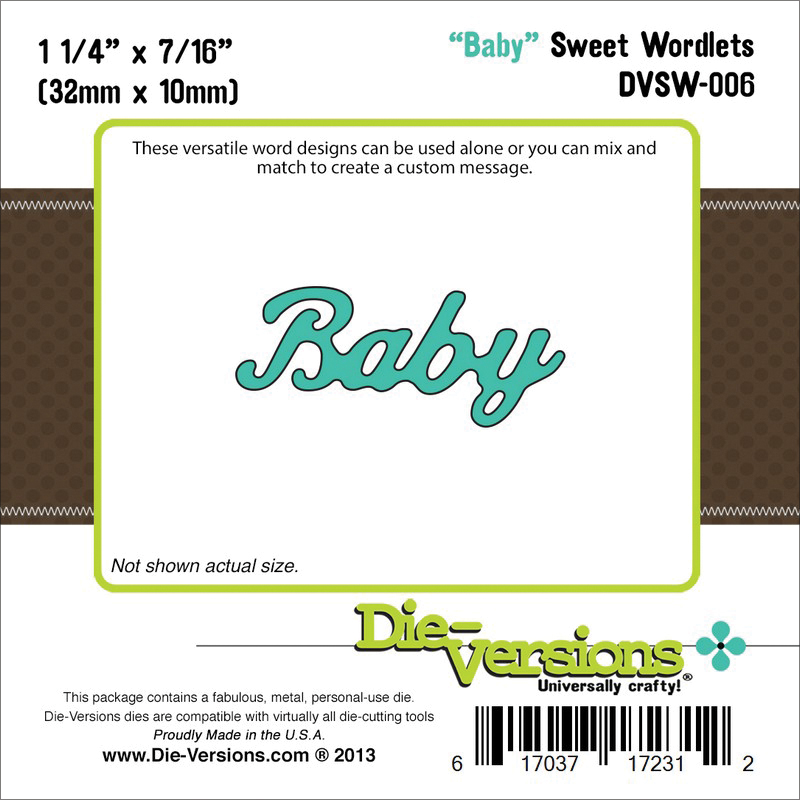 "Die-Versions Sweet Wordlets Die-Baby, 1.25""X.437"""