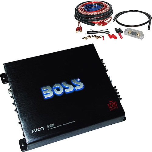 Your Choice Amplifier and 4-Gauge Car Amplifier Installation Kit Bundle