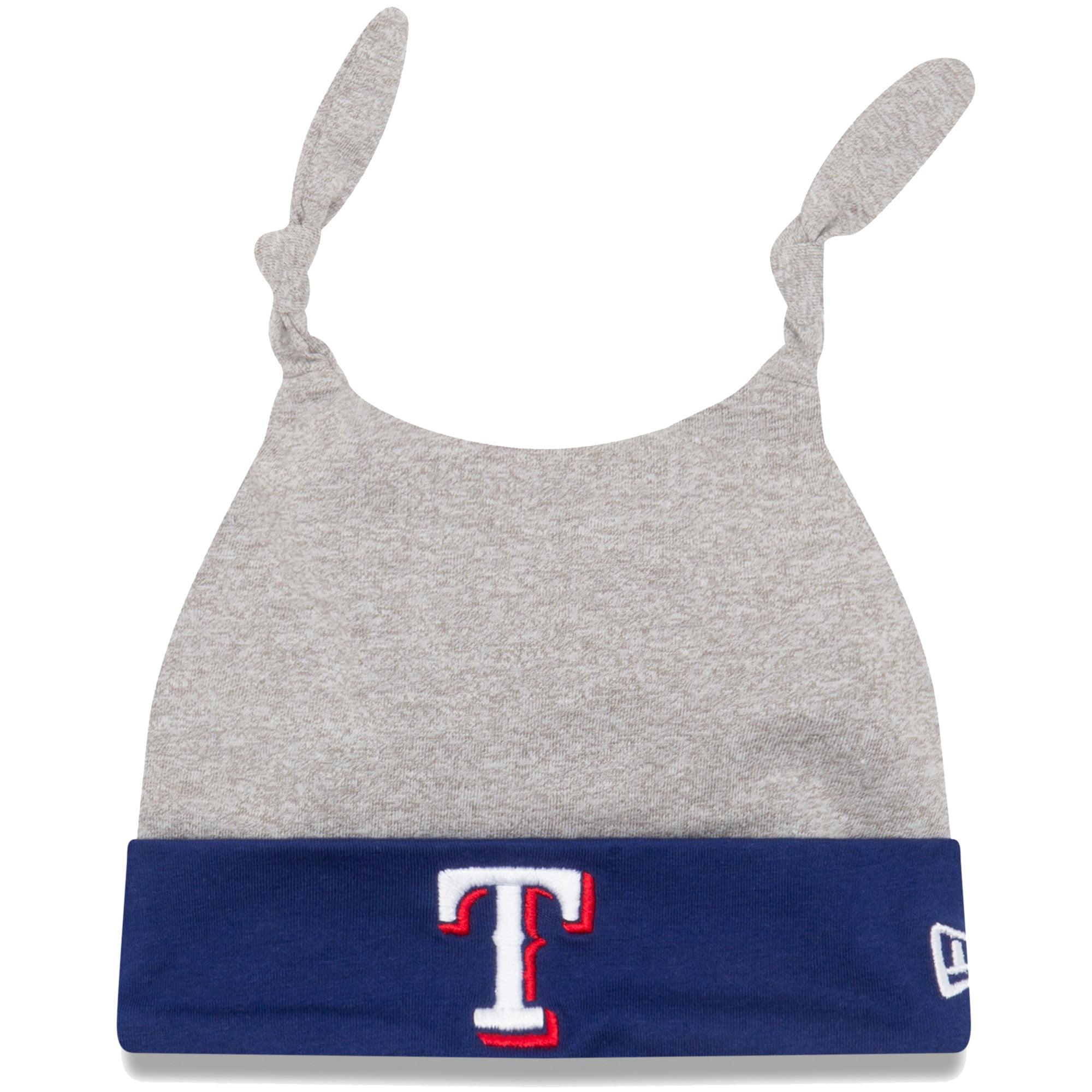 Texas Rangers New Era Newborn Speckle Tot Dub Cuffed Knit Hat - Gray/Royal - OSFA