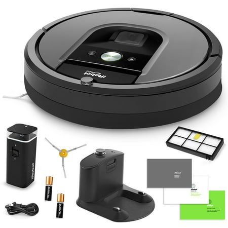 Irobot Roomba 960 Vacuum Cleaning Robot   Dual Mode Virtual Wall Barriers   Extra Hepa Filter   Extra Sidebrush   More