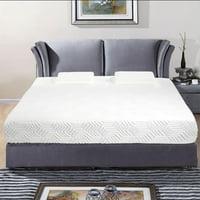 "Ktaxon New 10"" COOL Traditional-Firm Memory Foam Mattress 2 Pillows + Cover Full Size"