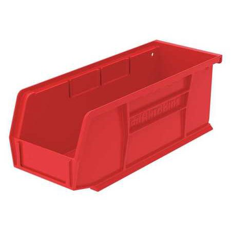 Akro-Mils 10 lb Capacity, Hang and Stack Bin, Red 30220RED