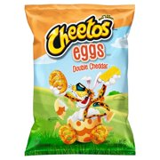 Cheetos Eggs Shaped Puffs Double Cheddar Cheese Flavored Snacks, 7 oz