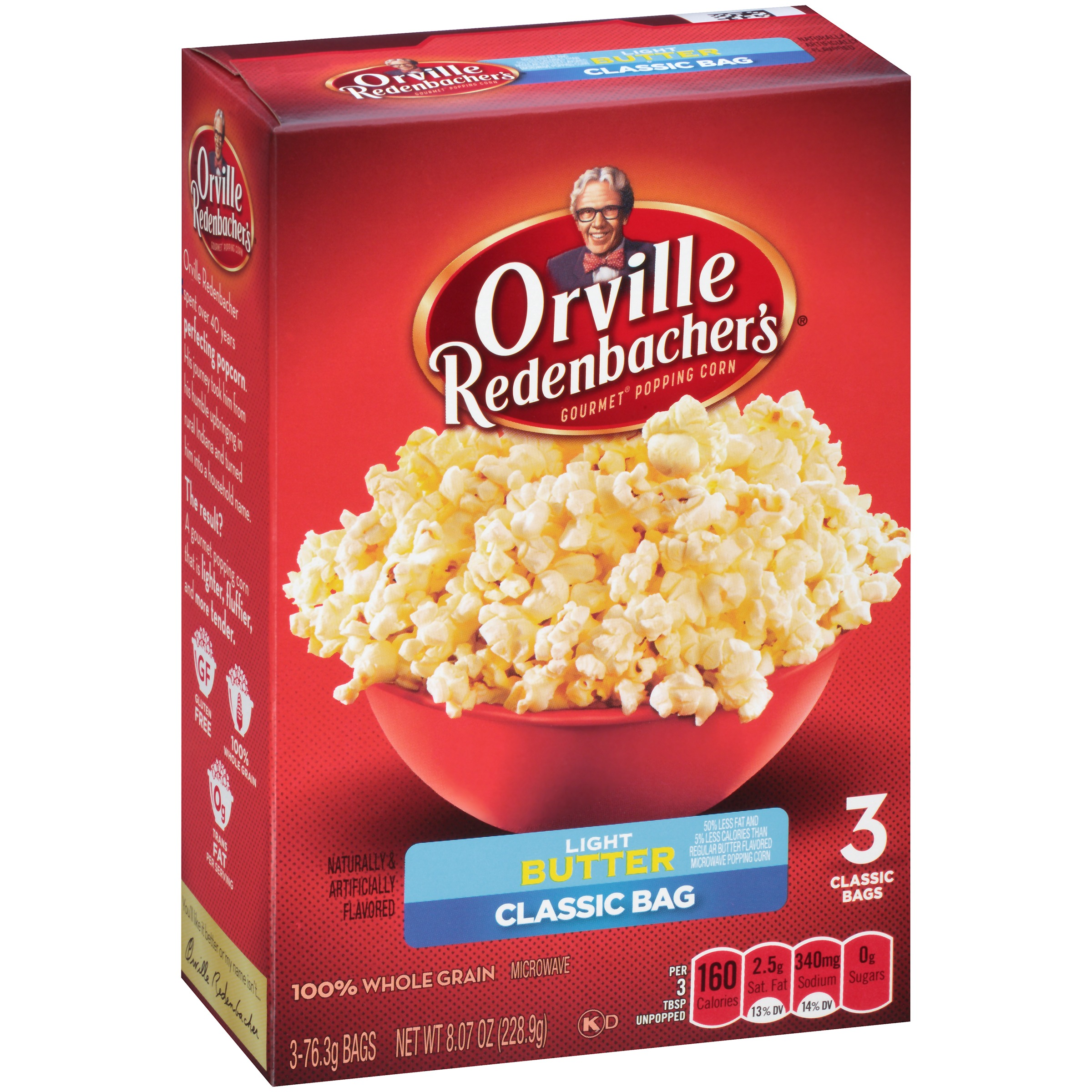 How many calories are in a bag of light popcorn?