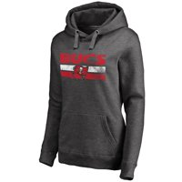 Tampa Bay Buccaneers NFL Pro Line Women's First String Pullover Hoodie - Dark Heathered Gray