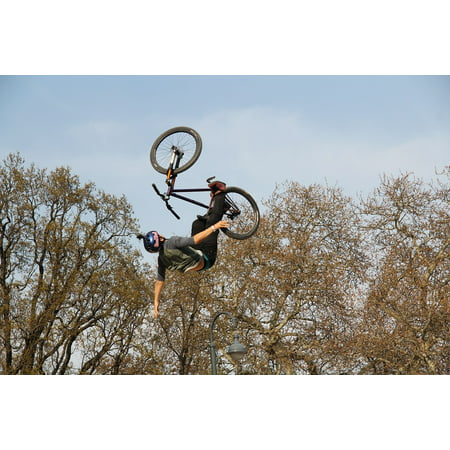 LAMINATED POSTER Competition Wheel Air Cool Bike Bmx Sport Jump Poster Print 24 x 36