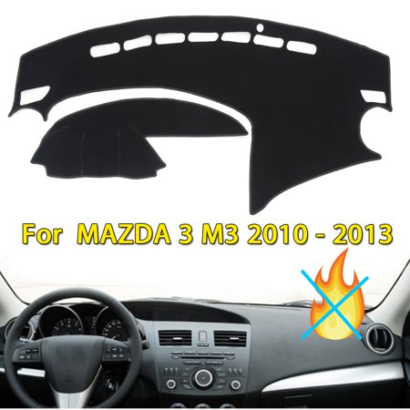 - FOR MAZDA 3 2010-2013 carsunshadecover DASH SUN COVER MAT INNER CAR DASHBOARD DASHMAT PAD BLACK