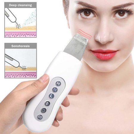 EMS Lifting and Tightening Skin Scrubber Cleaner Skin Peeling Face Pores Deep Cleansing US, Pores Cleaning Machine, Facial Peeling Massager (Facial Machine)