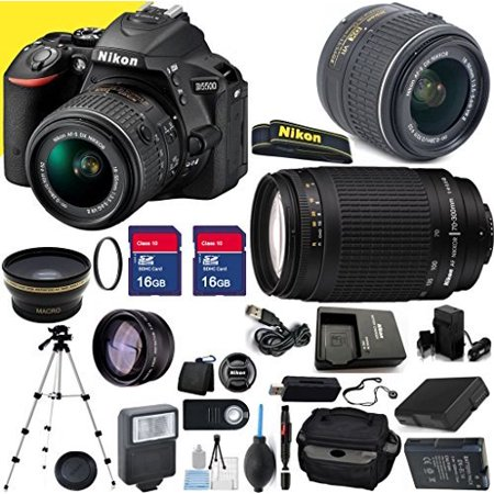 Nikon D5500 24.2MP 3.2-Inch Camera with 18-55mm VR II Lens, 70-300mm G