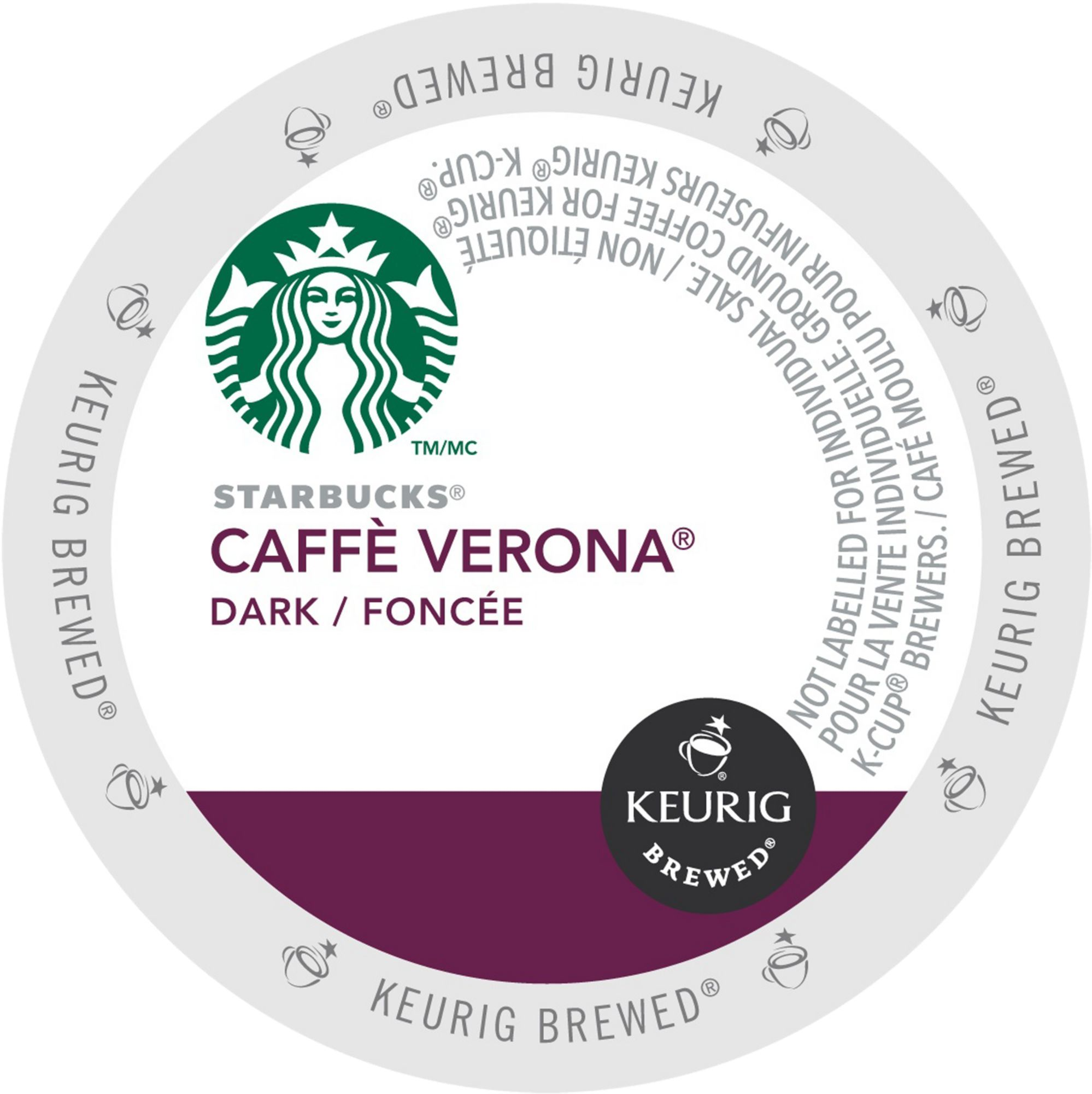 Starbucks Caffe Verona Coffee, K-Cup Portion Pack for Keurig Brewers (24 Count) (1x16oz) by Green Mountain