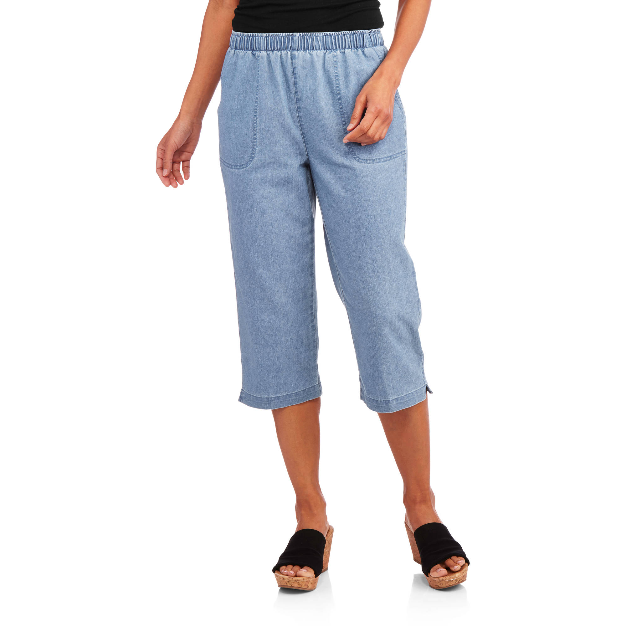 White Stag Women's Woven Pull-On Capri - Walmart.com