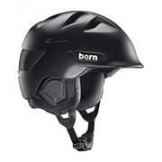 Bern Men's Kingston Snow Helmet, Matte Black w/Black Liner, L/XL