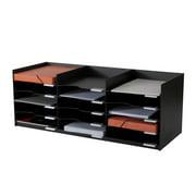 Easy Office Stackable Horizontal Desktop Organizer in Black