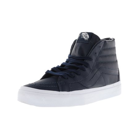 44b83c2155 Vans Sk8-Hi Reissue Zip Premium Leather Dress Blues   True White High-Top  Skateboarding Shoe - 9.5M 8M - Walmart.com