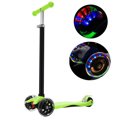 Hot Wheels 3 Wheel Scooter (Aluminum Alloy Kids Kick Scooter  3 Wheel Folding Scooter T Style Handle Bar )
