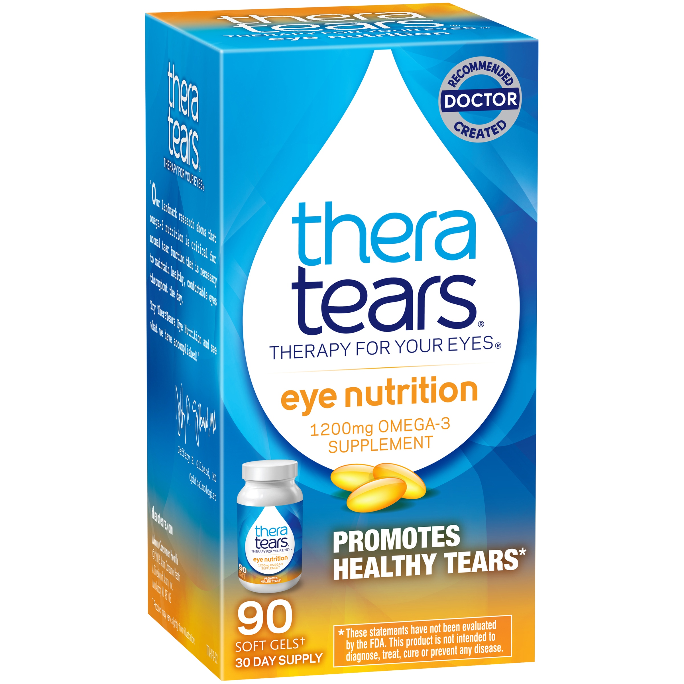 TheraTears Eye Nutrition Omega-3 Softgels, 1200 Mg, 90 Ct