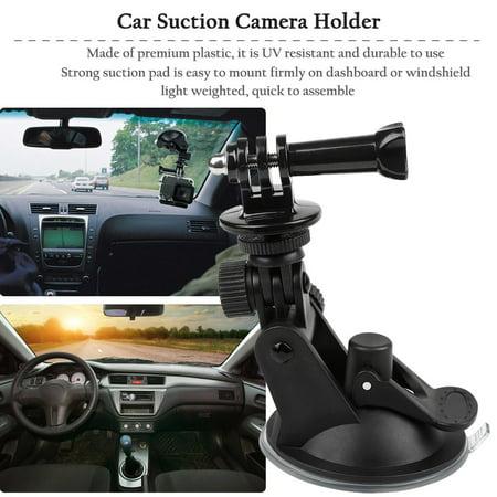 Car Suction Cup Mount Holder Bracket For Gopro Hero 1 2 3 4 Action Camera,black - image 3 of 11