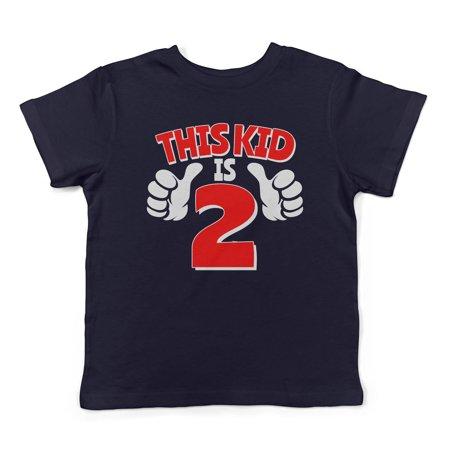 Kids Toddler Shirt (Lil Shirts This Kid is 2 Toddler T-Shirt (Blue, 2T))