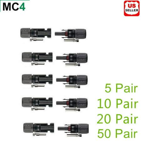 MC4 30A Male Female M/F Wire PV Cable Connector Set Solar Panel US