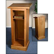 Christian Brands Church Supply GS017 Full Lectern with Shelf