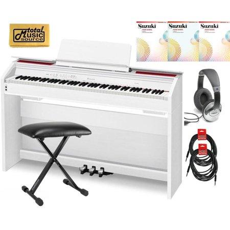casio privia px 860 88 key digital piano deluxe bundle white px860we deluxe. Black Bedroom Furniture Sets. Home Design Ideas