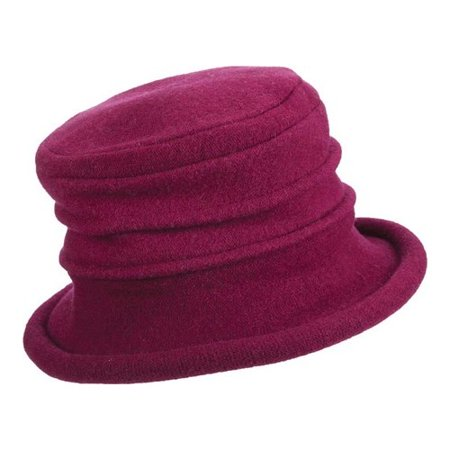 Brimmed Cloche - women's handcrafted fashionable cloche hat - soft wool knit - 3
