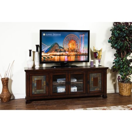 Sunny Designs Dark Hazelnut TV Console In Dark Hazelnut