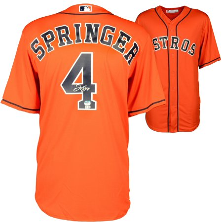 George Springer Houston Astros Autographed Orange Replica Jersey by