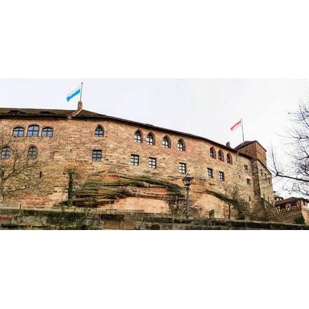 Imperial Tower (Canvas Print Castle Middle Ages Imperial Castle Nuremberg Tower Stretched Canvas 10 x)