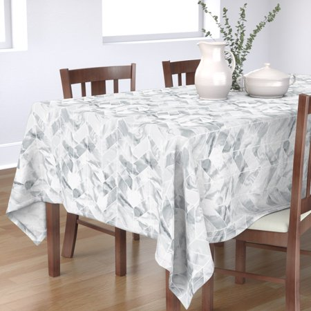 Grey Chevron Plastic Tablecloth (Tablecloth Grey Chevron Marble & Watercolor Marbled Texture Cotton)
