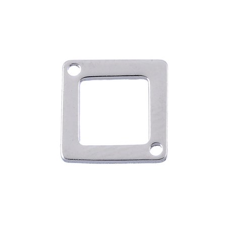 5pcs Wholesale Stainless Steel Square Charms Blank Connectors Findings - Wholesale Charms