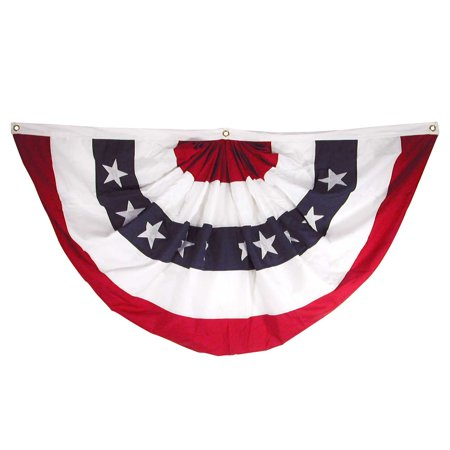 36in Polyester (18in x 36in Sewn Polyester Pleated Fan - Online Stores, Inc. Brand)