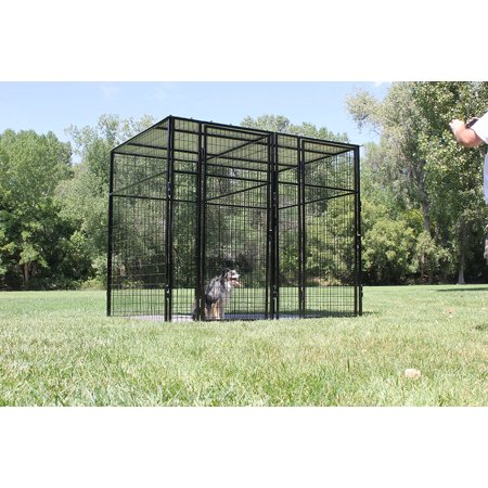 K9 Kennel Store 7' Tall 8' X 8' Welded Wire Complete Dog Kennel System Complete Dog Kennel System