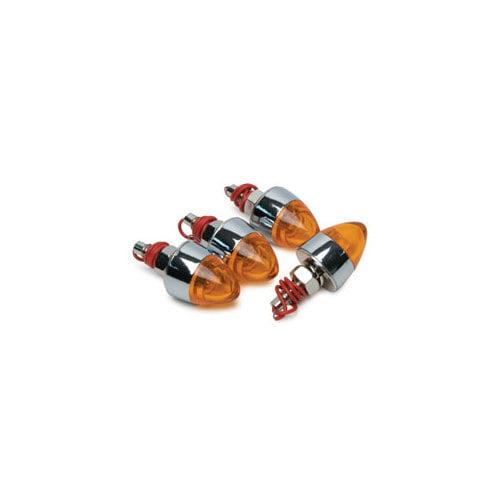 ROADPRO���� RP-7868 Lighted Tip License Plate Screws  Amber Lens 4-Pack