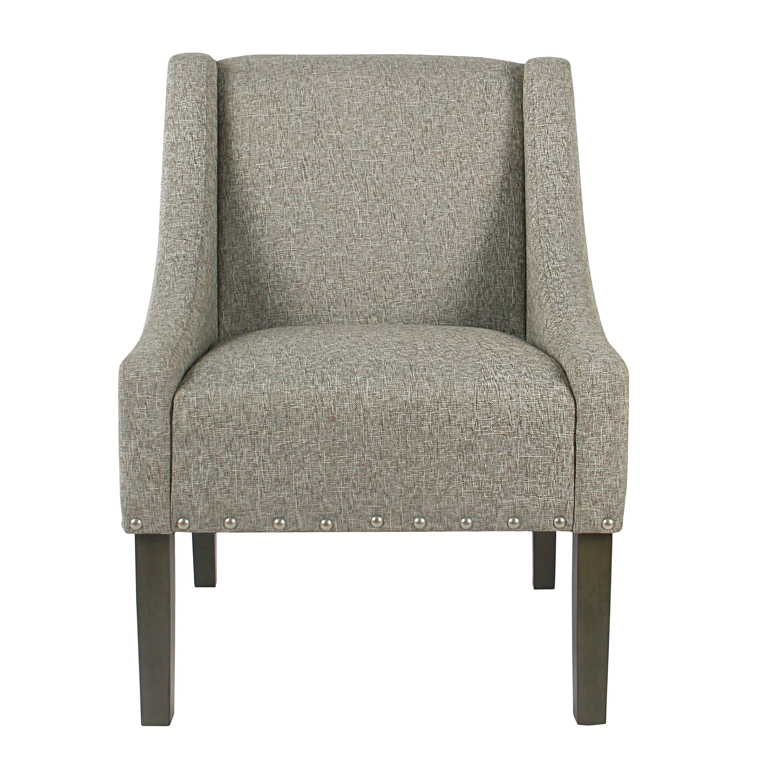 Accent Chair With Lots Of Color: HomePop Modern Swoop Accent Chair With Nailhead Trim