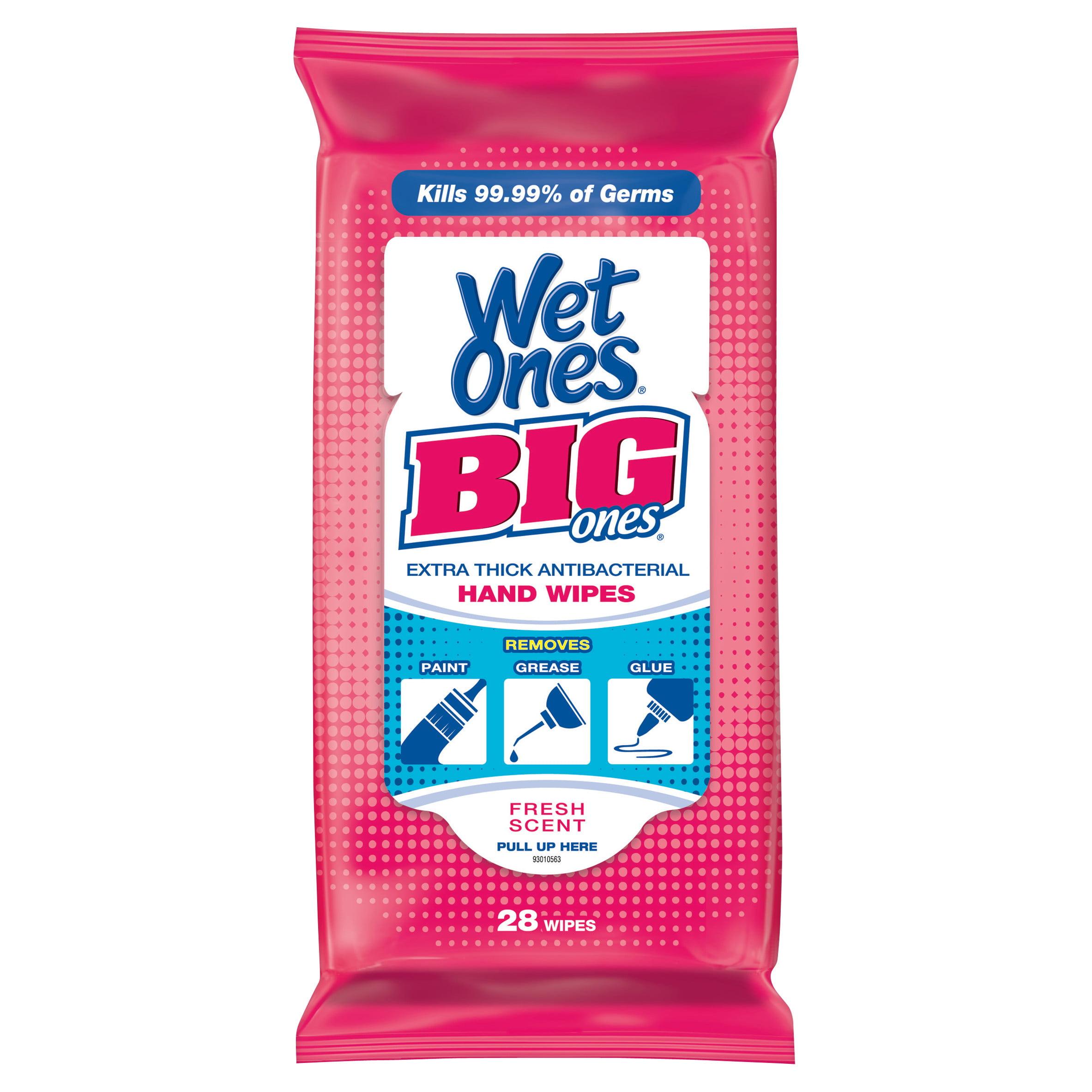 Wet Ones Big Ones Antibacterial Hand Wipes Travel Pack - 24 Count